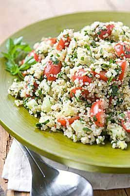 (Use 2 cups cooked quinoa to serve 4) Gluten-Free Tabbouleh makes a refreshingly light and cool supper side dish -- or add protein to make this a one-dish meal.