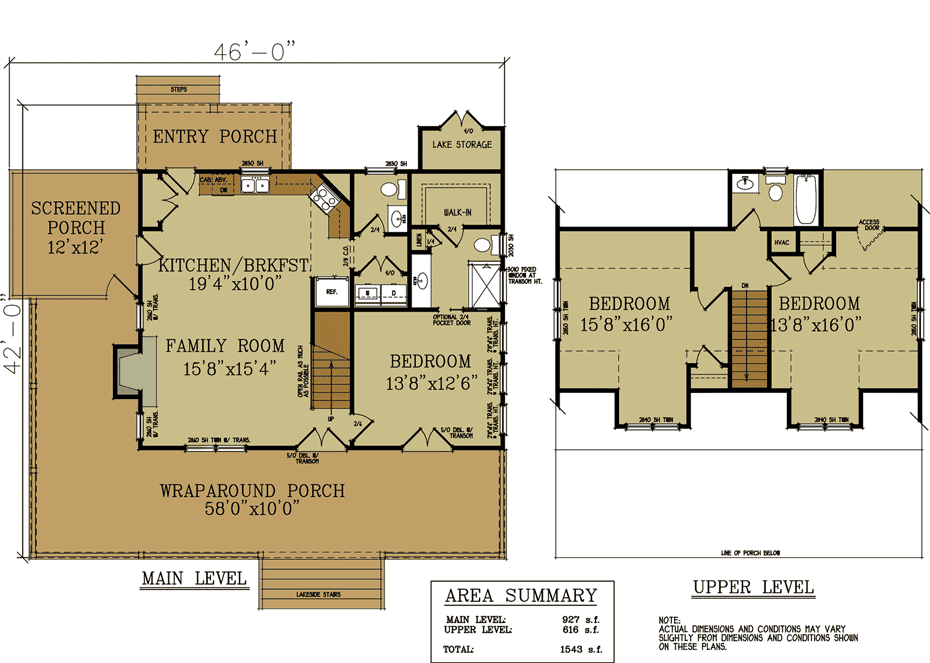 rustic cottage house plan - Cottage Floor Plans