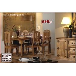 Photo of Mexico dining table 140x80cm iron fittings 1a direct import1a direct import
