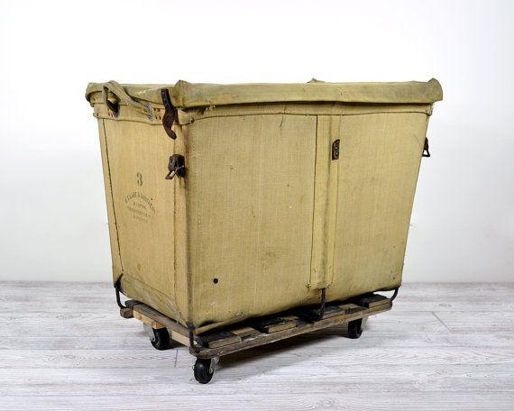 Vintage Industrial Laundry Cart Laundry Hamper Laundry Cart