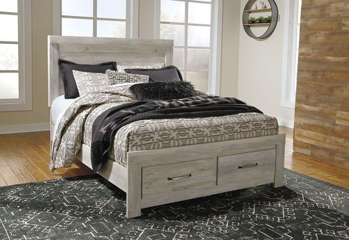 Best Bellaby Whitewash Queen Panel Storage Bed Wooden Bedroom 640 x 480