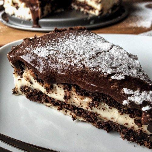 Low Carb Eclair Kuchen Rezept mit Schokoladenkekse Vanille ...