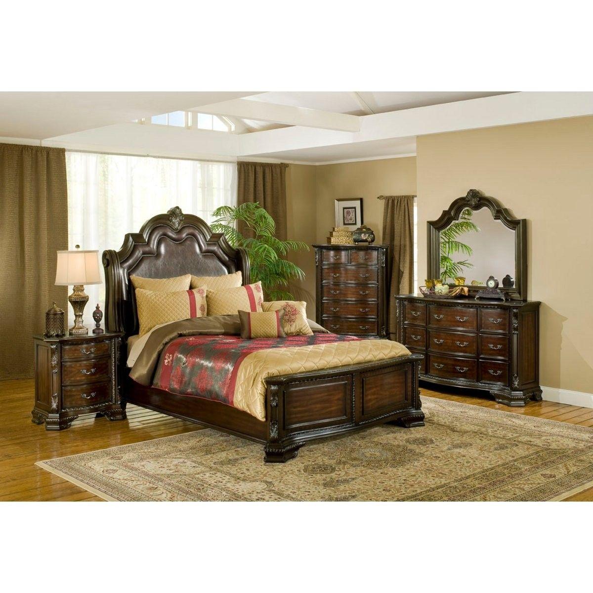 Alexandria Bedroom Bed Dresser Mirror Queen B1100 Master Bedroom Furniture Cheap Bedroom Furniture Sets Cheap Bedroom Furniture
