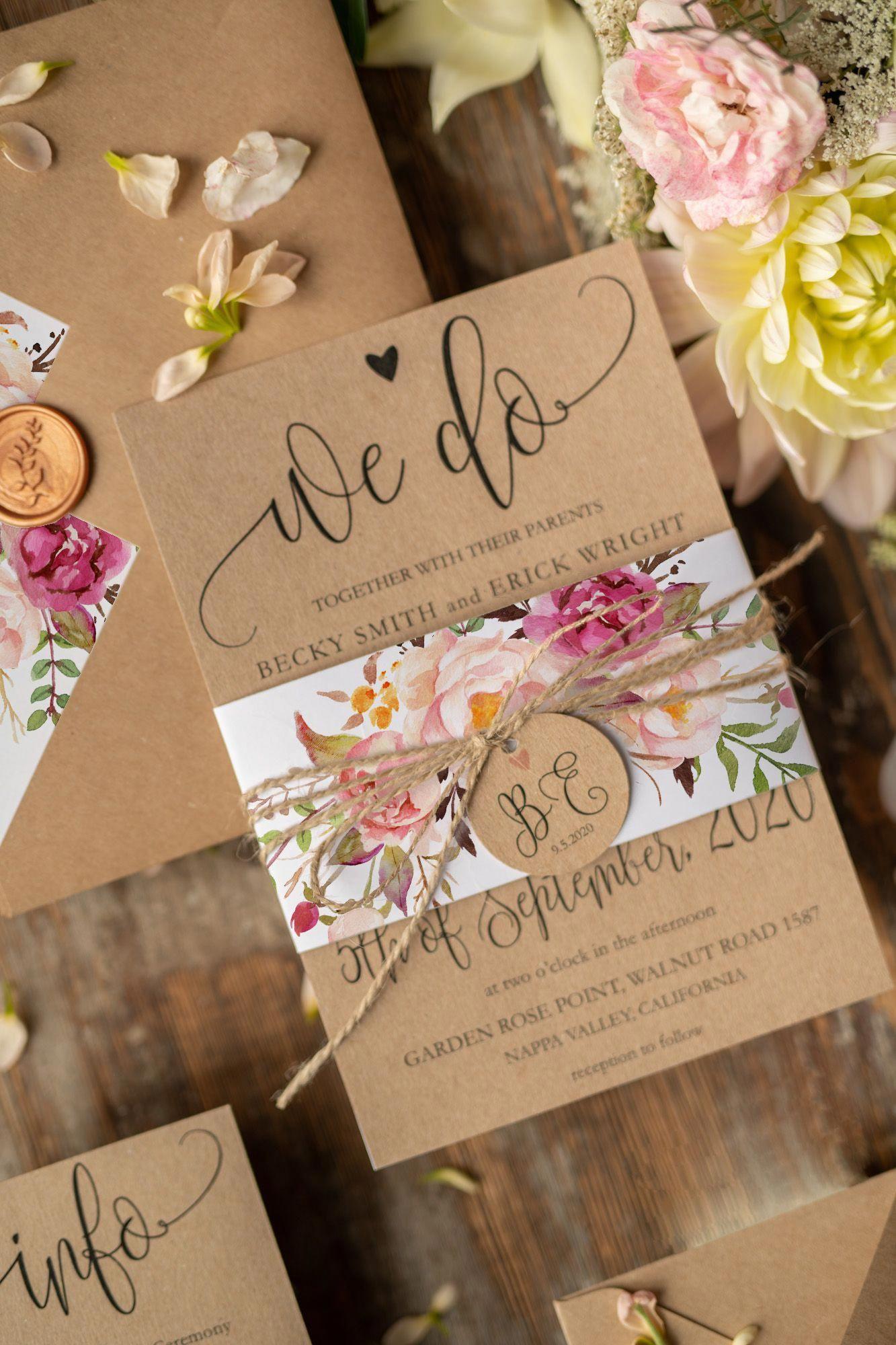 Wedding Invitations 001 Wcg Z Weddingtiips Wedding Invitations Diy Country Wedding Invitations Handmade Wedding Invitations