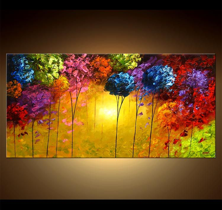 Abstract painting abstract art paintings by osnat for Abstract mural art