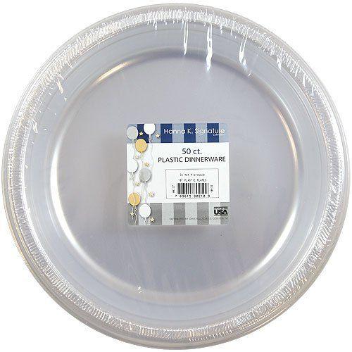 10  Clear Plastic Disposable Plates Hanna K Signature 50ct by Hanna K Signature //.amazon.com/dp/B000FM9ALI/refu003dcm_sw_r_pi_dp_fHLtrb10WB4JY  sc 1 st  Pinterest & 10
