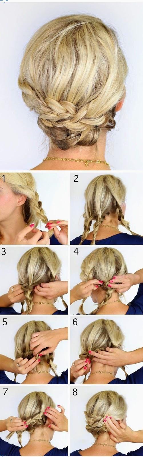 5 Fabulous Hair Tutorials For Short Hair Jpg Neue Frisur Frisuren Frisur Hochgesteckt Kurze Haare Hochsteckfrisuren