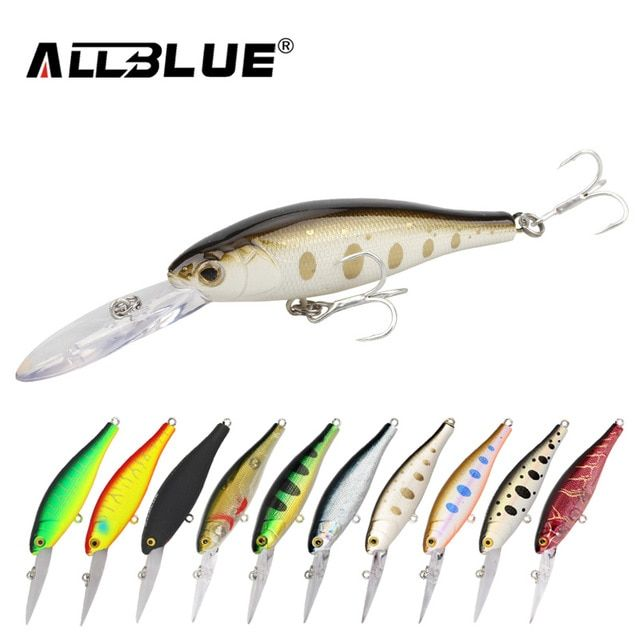 Allblue Floating Fishing Lures Shad Minnow 60mm 7 3g Artificial Bait 2 5m Plastic 3d Eyes Wobbler Bass Lure Fishing Tac Fishing Lures Bass Lures Fishing Tackle
