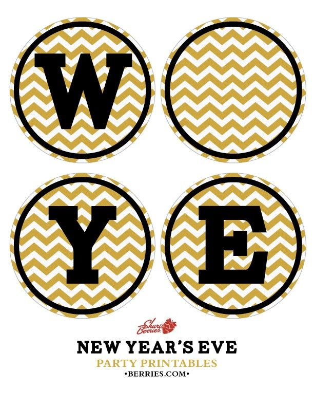 diy happy new year banner
