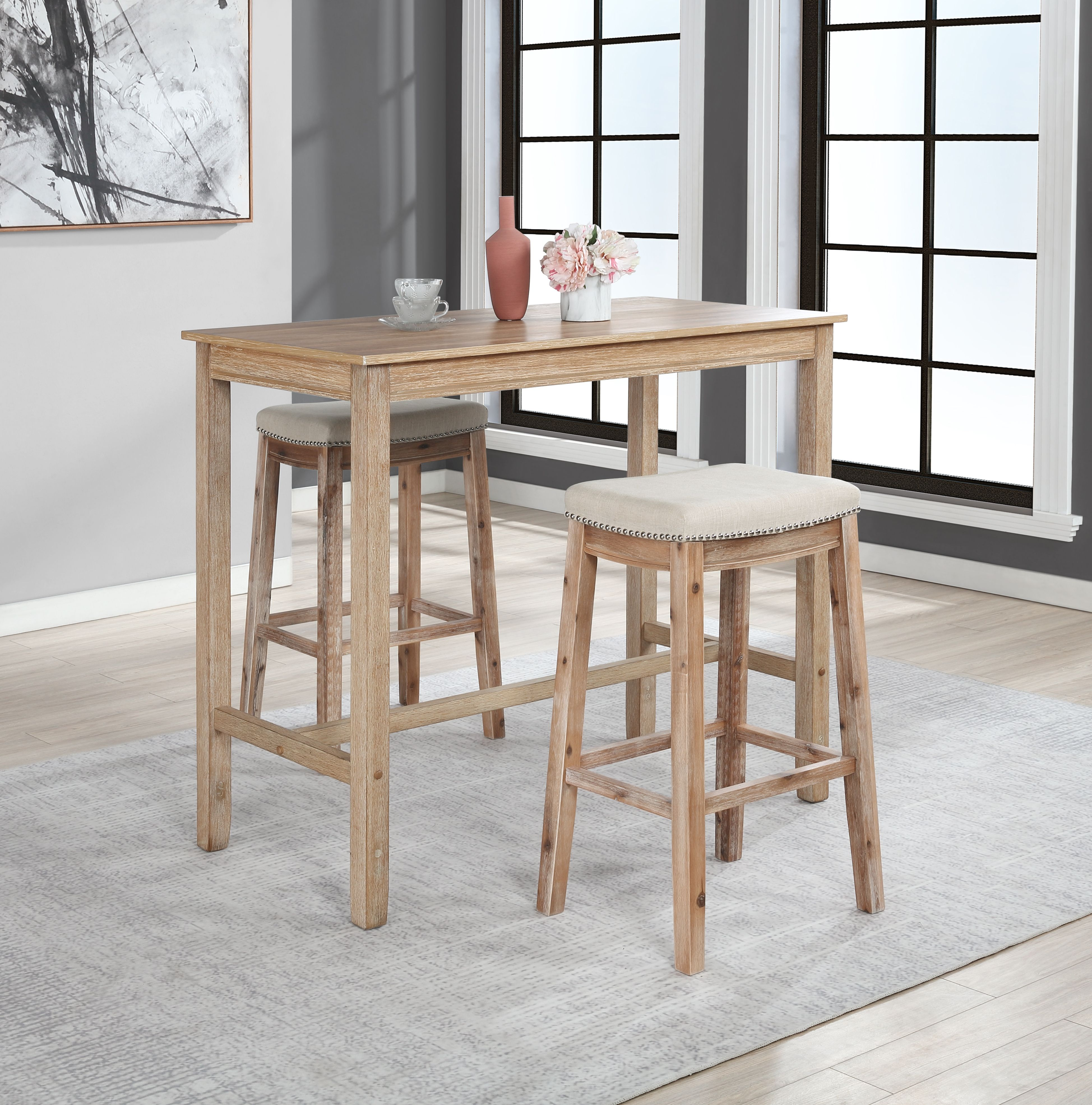 Claridge 42 Inch Bar Height Pub Table Distressed Brown Ashley Furniture Homestore Counter Height Dining Table Counter Height Pub Table Counter Height Dining Sets