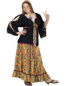 1960s groovy mamma hippie costume size 22 26 only - Size 26 Halloween Costumes