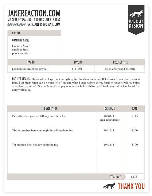 Invoice Invoice Template Invoice Design Web Design Quotes