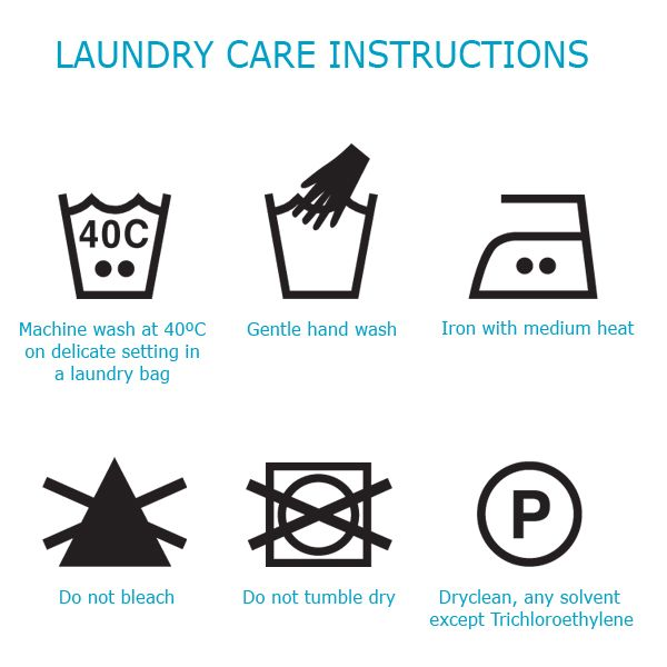 Washing instruction symbols-fabric care symbols what do they mean