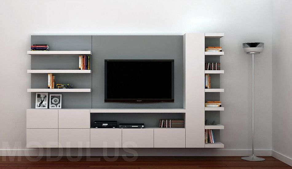 Modulares para living tv lcd led wall unit muebles for Muebles diseno living