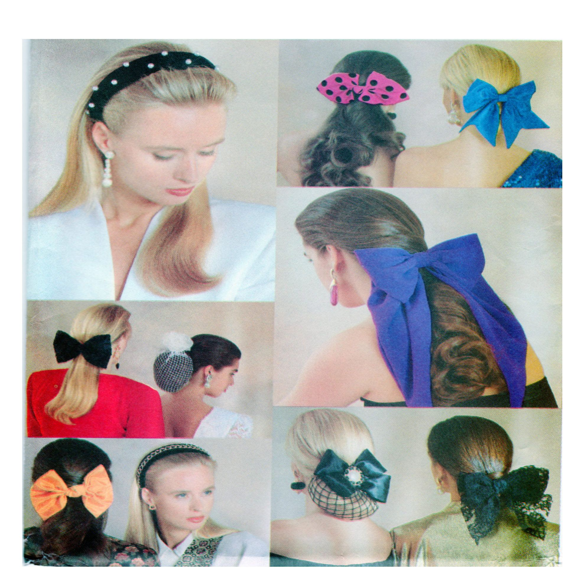 Butterick 5135, Women Fashion Accessories, Sewing Pattern, Hair Band, Hair Bow, Wedding Accessories, Snood, Hair Bun Wraps, Hair Ties, UNCUT