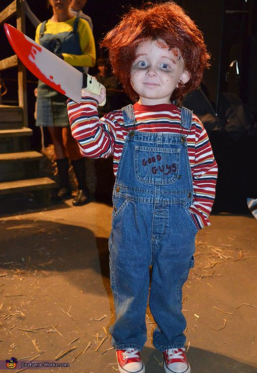 Lilu0027 Chucky - 2013 Halloween Costume Contest lol this is awesome but he gets to pick this year not me. He did want to buy the movie once lol so maybe  sc 1 st  Pinterest & Lilu0027 Chucky - Halloween Costume Contest at Costume-Works.com ...