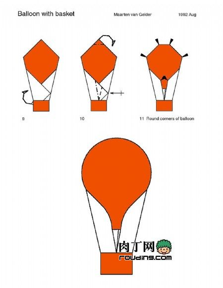 Waterbomb Base: How To Make An Origami Balloon | Origami 101 | Guides | 582x450
