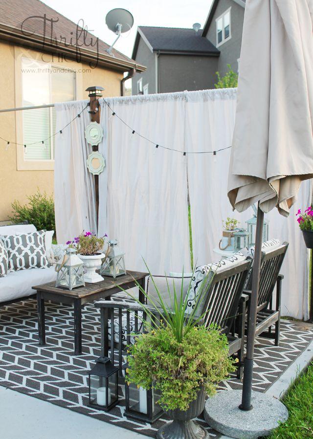 DIY Outdoor Privacy Screen | Privacy screen outdoor ...