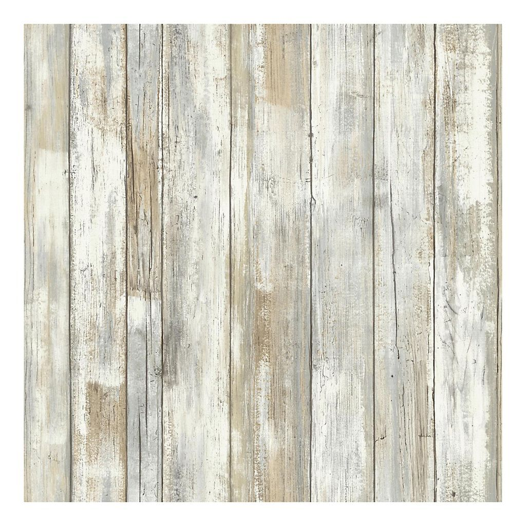 Roommates Faux Distressed Wood Peel Stick Wallpaper Wall Decal Kohls How To Distress Wood Distressed Wood Wallpaper Peel And Stick Wallpaper