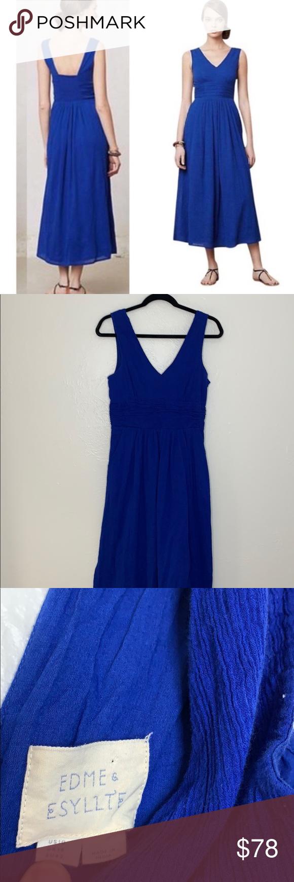 Anthropologie Esme Esyllte Blue Maxi Dress 10 Maxi Dress Blue Wedding Guest Dress Plus Size Wedding Guest Dresses [ 1740 x 580 Pixel ]