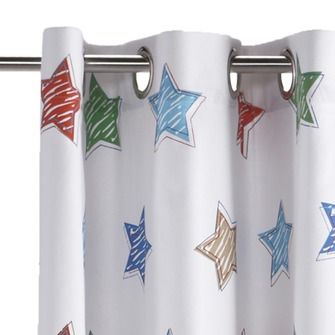 Lief! kant en klaar gordijn 140x180 cm 078 wit sterren | Gordijnen ...