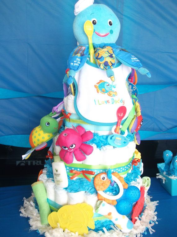 Under The Sea Ocean Inspired Diaper Cake Happy Hooligans