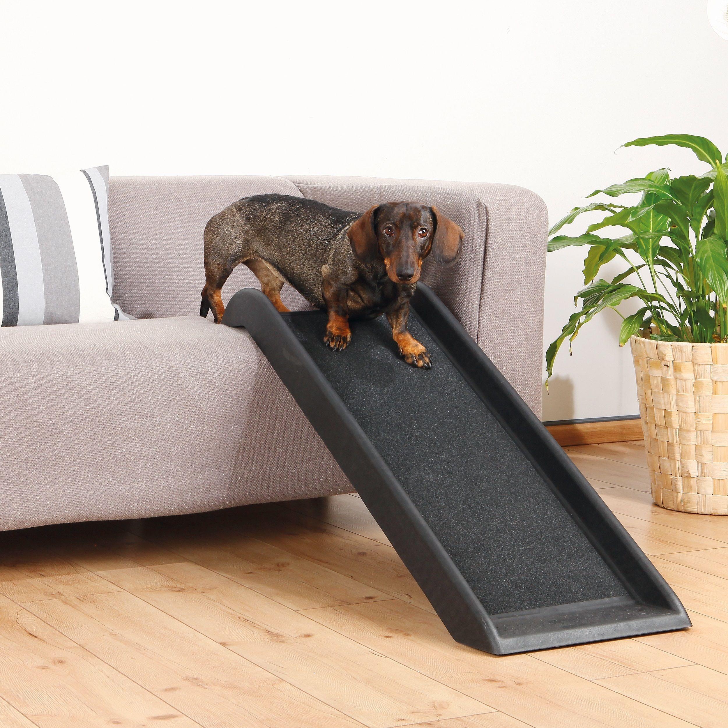 TRIXIE 39inch Pet Safety Ramp Black Pet ramp, Dog