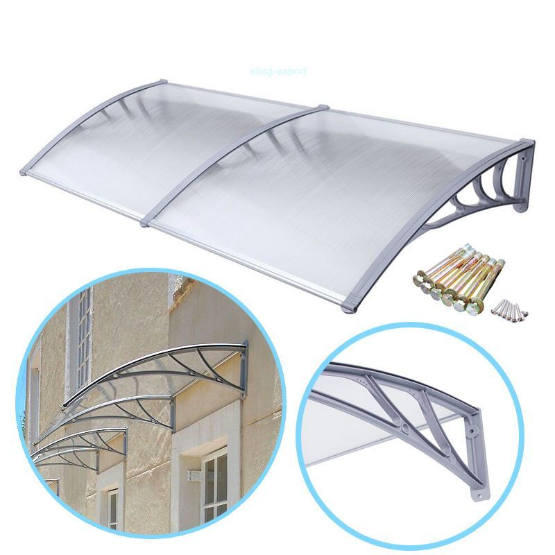 6.5 Ft Diy Overhead Clear Outdoor Awning Patio Cover Door ...