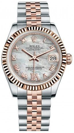 3bb3b309ad3 Rolex Datejust Steel and Rose Gold 31mm White Mother of Pearl Diamond VI  Dial price, review and buy in UAE, Dubai, Abu Dhabi | Souq.com