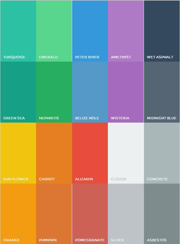 Flat UI Color Palette | All about Colors & Patterns | Pinterest ...