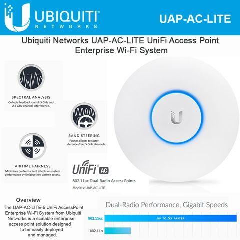 Ubiquiti Networks Unifi Ac Lite Ap Uap Ac Lite 802 11ac Dual Radio Wireless Access Point Gigabit Radio Networking Dual Band