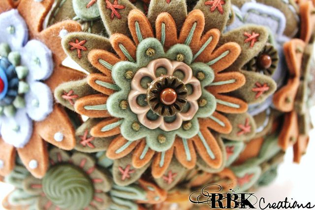 Bride Felt Button Bouquet by rbkcreations, via Flickr