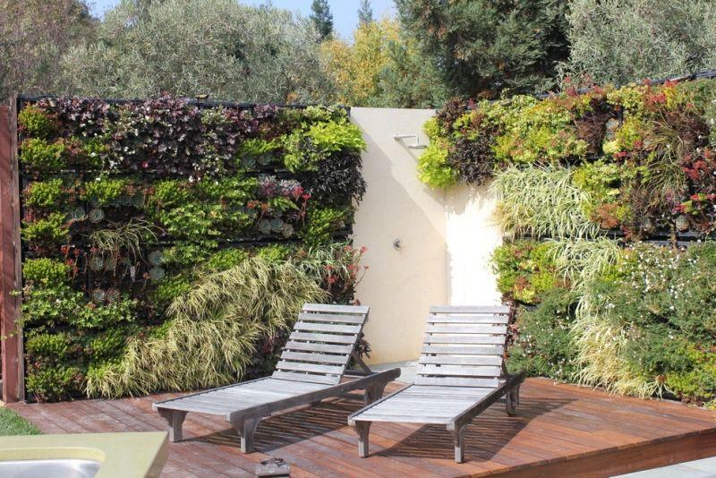 Gartenideen für Lieblingsplätze - Wellnessbereich mit Gartendusche - gartenideen wall