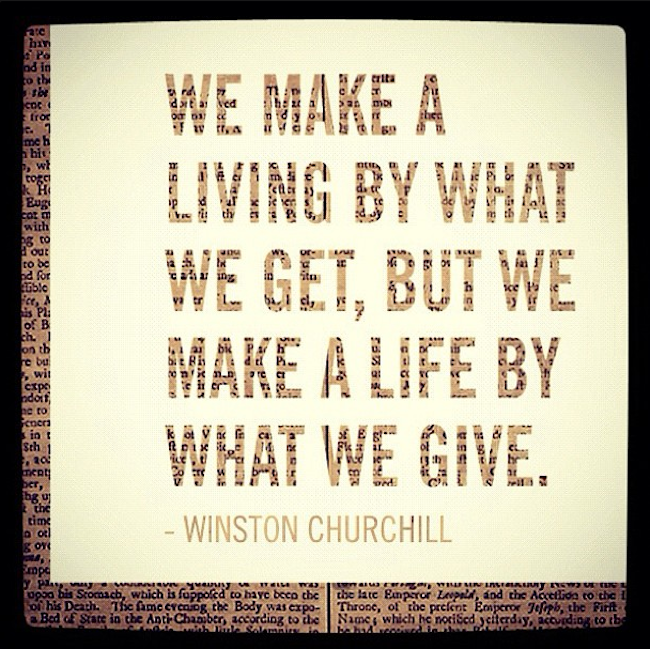 Volunteering Quotes We Make A Livingwhat We Get But We Make A Lifewhat We Give .