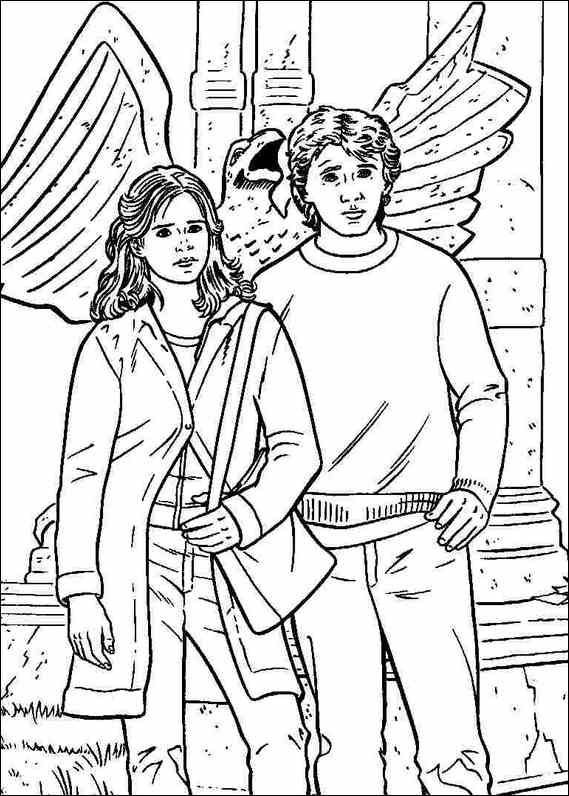 Harry Potter Coloring Page Harry potter colors Harry