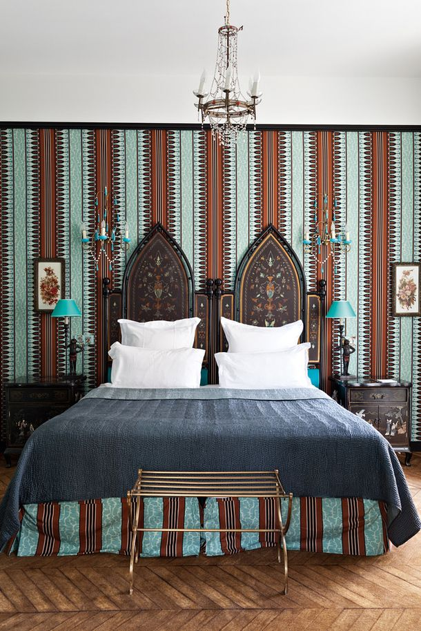 Interiors: A Madeleine Castaing Inspired Suite At The Saint James Paris