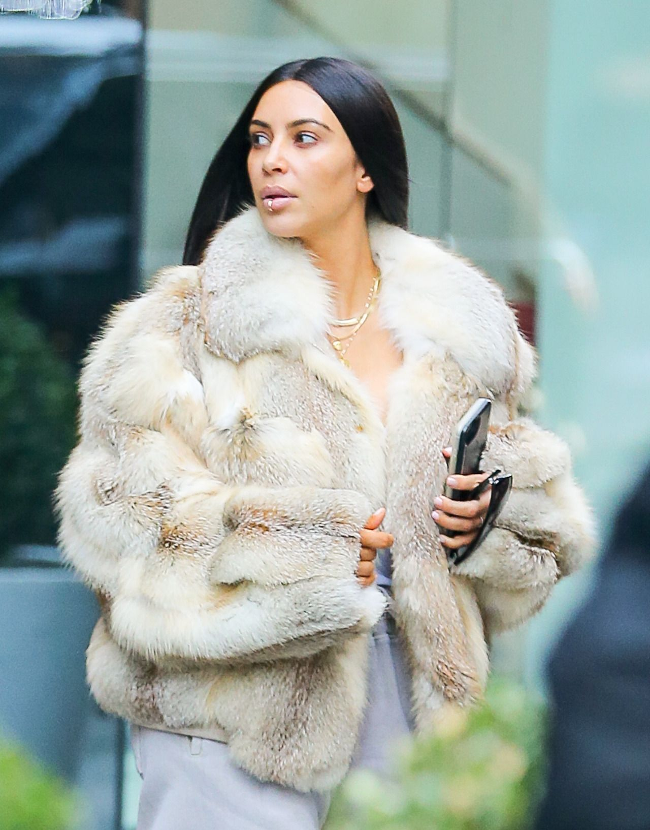 Kim out in NYC - January 16, 2017