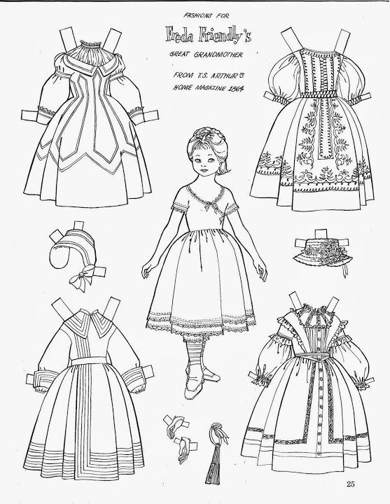 friend magazine coloring pages - fashions for freda friendly 39 s great grandmother children