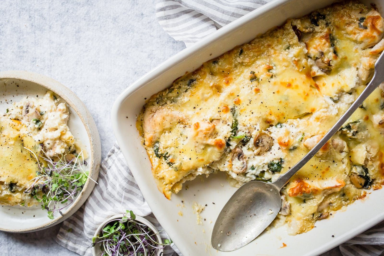 Keto Chicken and Mushroom Casserole — Recipe — Diet Doctor