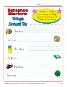sentence starters for k 1st grade mrs coward 39 s class sentence starters sentence writing. Black Bedroom Furniture Sets. Home Design Ideas