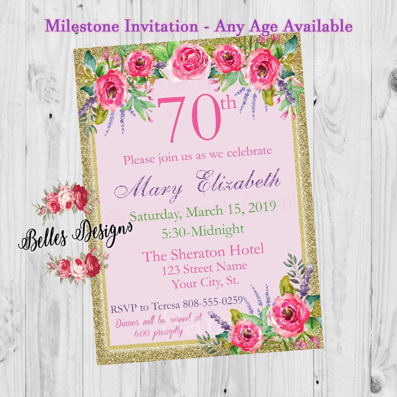 Einladungskarten Einladungen Zum 70 Geburtstag Einladung
