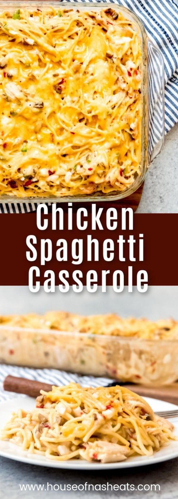 Chicken Spaghetti Casserole is adapted from the Pioneer Womans recipe and uses   Recipes