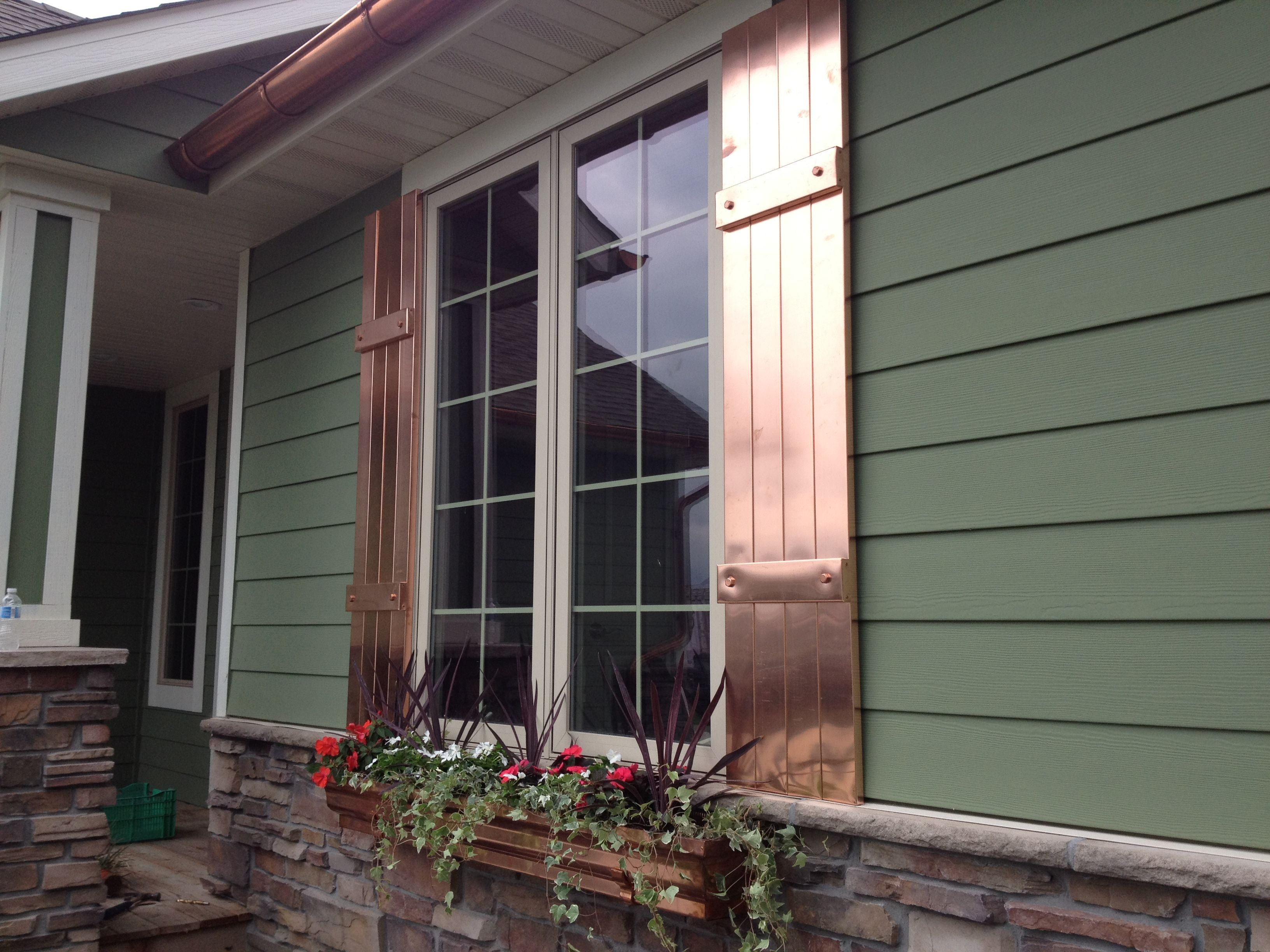 Copper Shutters And Window Planters These Handcrafted Unique