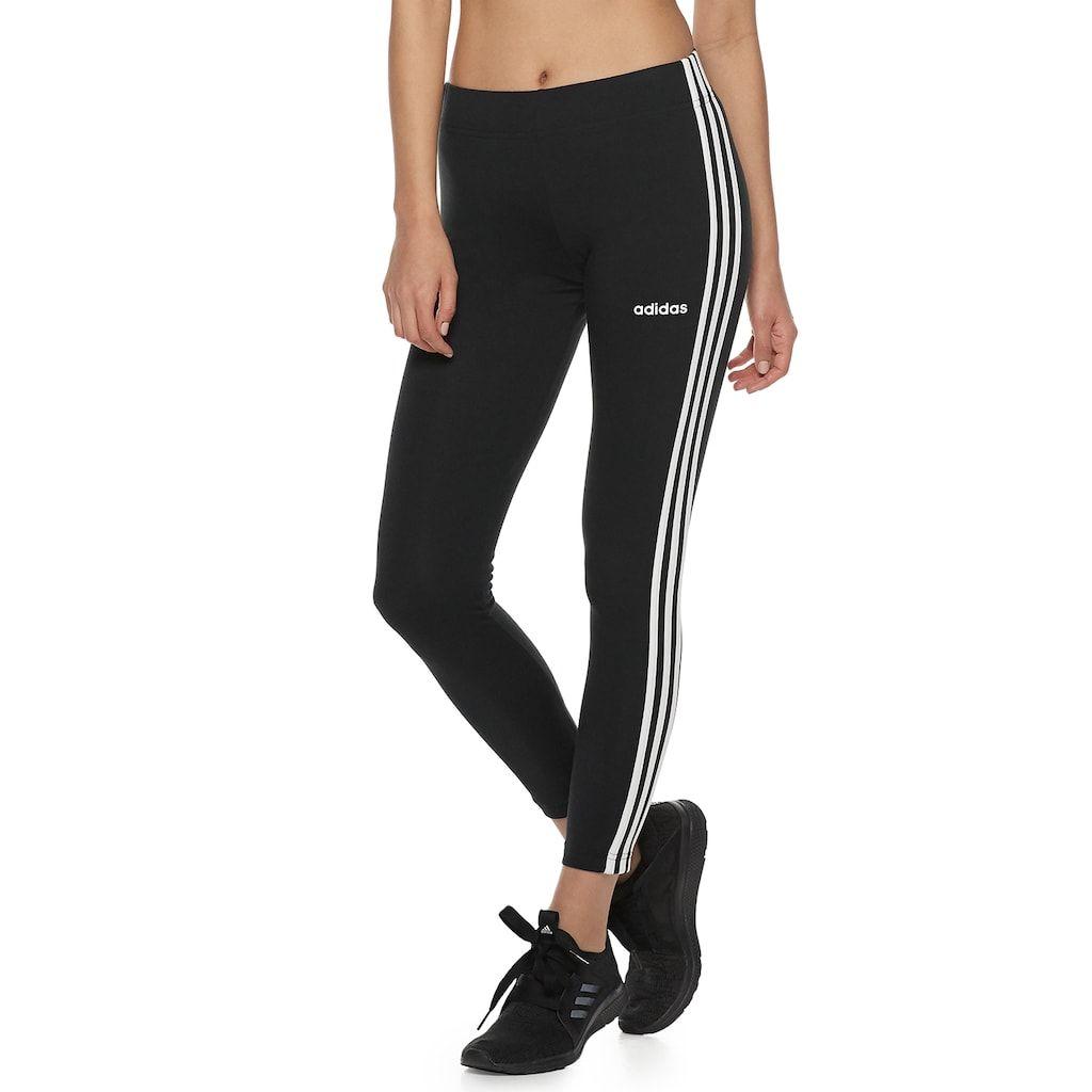 Womens adidas® Essential 3 Stripe Active Leggings