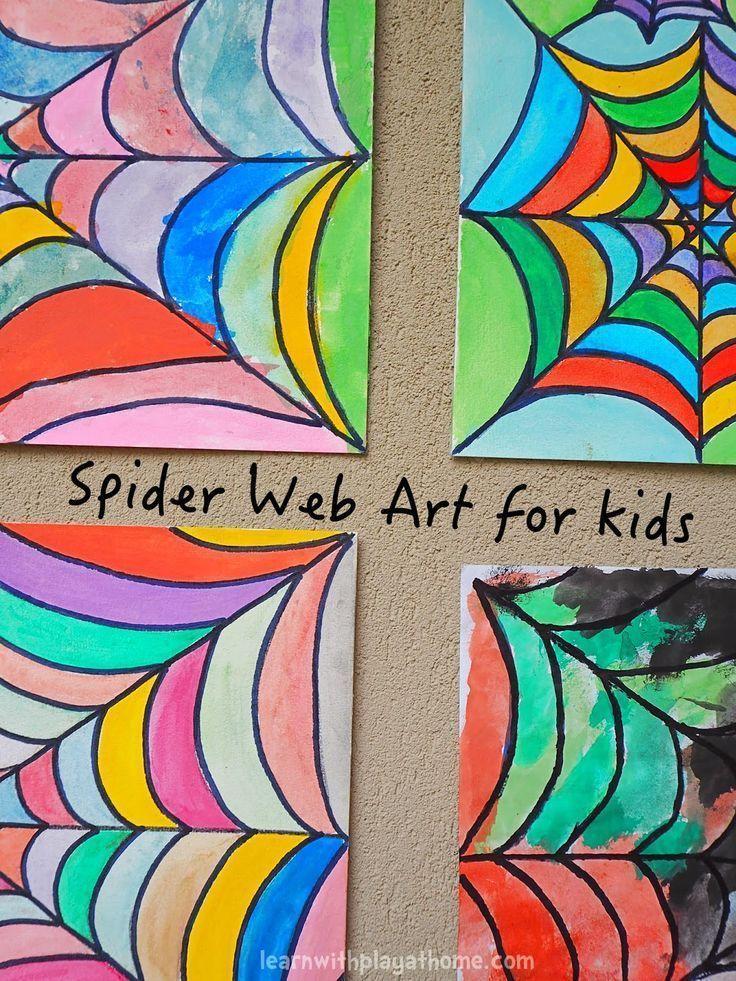 Spider Web Art for Kids