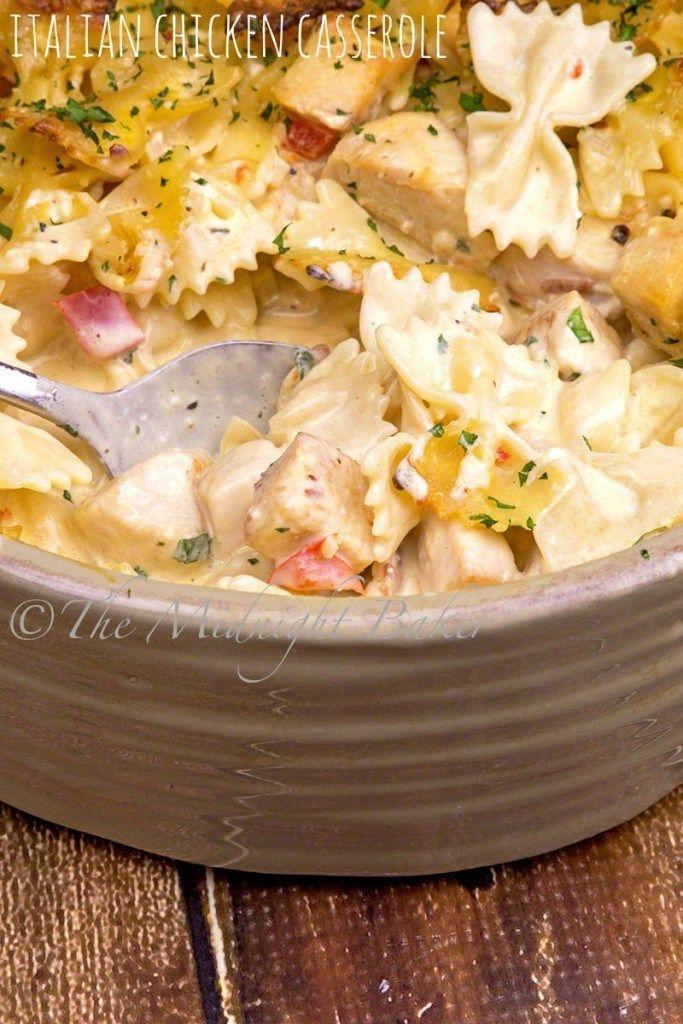 Photo of Italian Chicken Casserole – The Midnight Baker