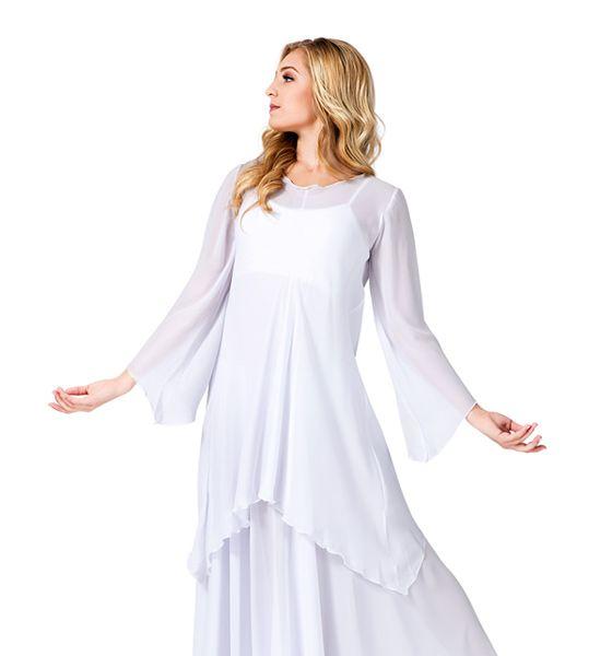 Women S Worship Long Sleeve White Tunic White Long Sleeve Tunic Styles Worship Dance Outfits