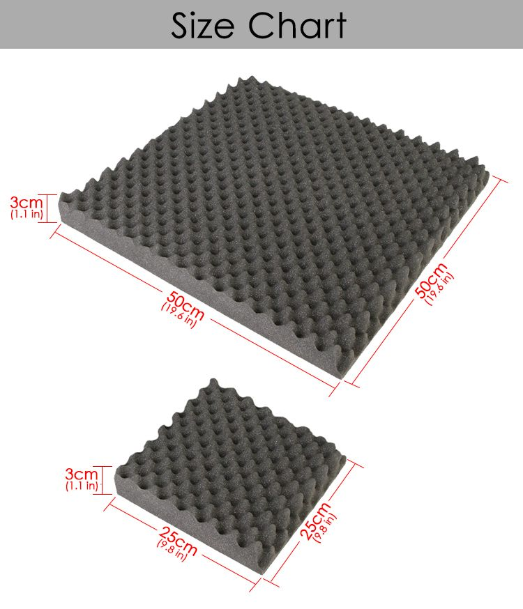 New Egg Crate Convoluted Acoustic Tile Panels Sound Absorption Studio Soundproof Foam 8 Colors Kk1052 Sound Proofing Sound Absorption Studio Soundproofing
