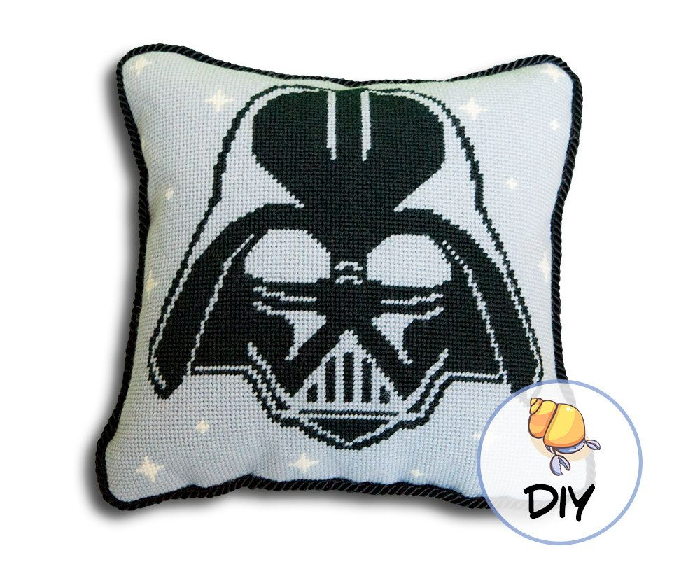 Star Wars Needlepoint Kit Darth Vader by HermitCrabStitchery