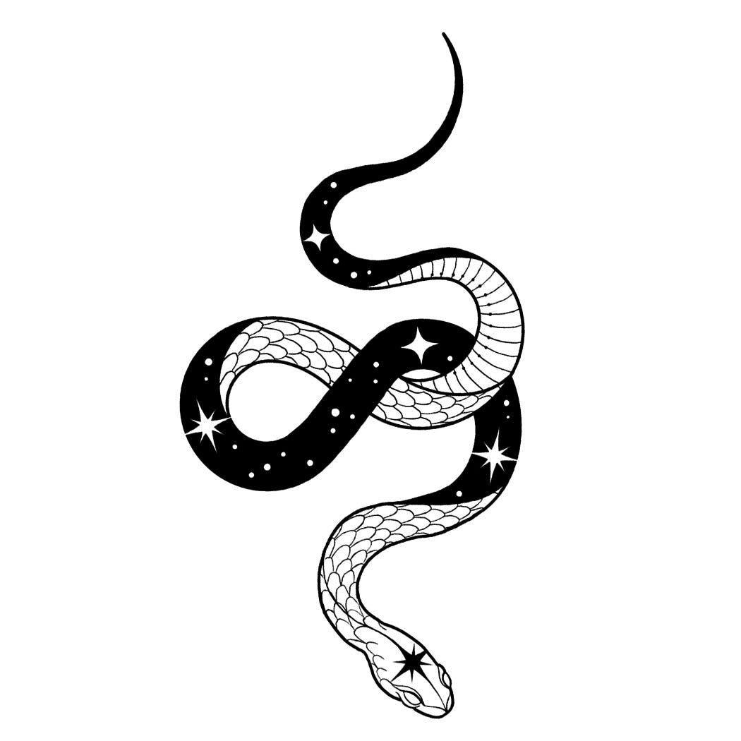 Deep Space Tattoo Semi Permanent Tattoos By Inkbox Space Tattoo Snake Tattoo Design Cobra Tattoo